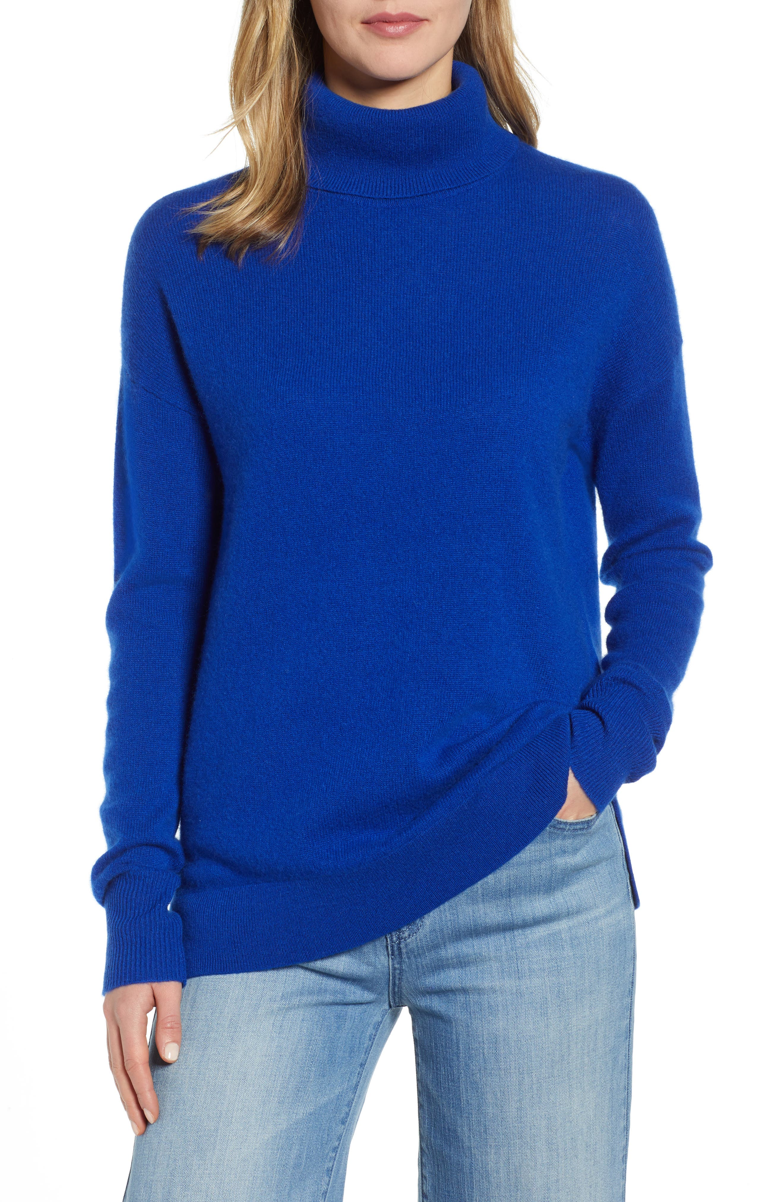 ,                             Cashmere Turtleneck Sweater,                             Main thumbnail 25, color,                             401