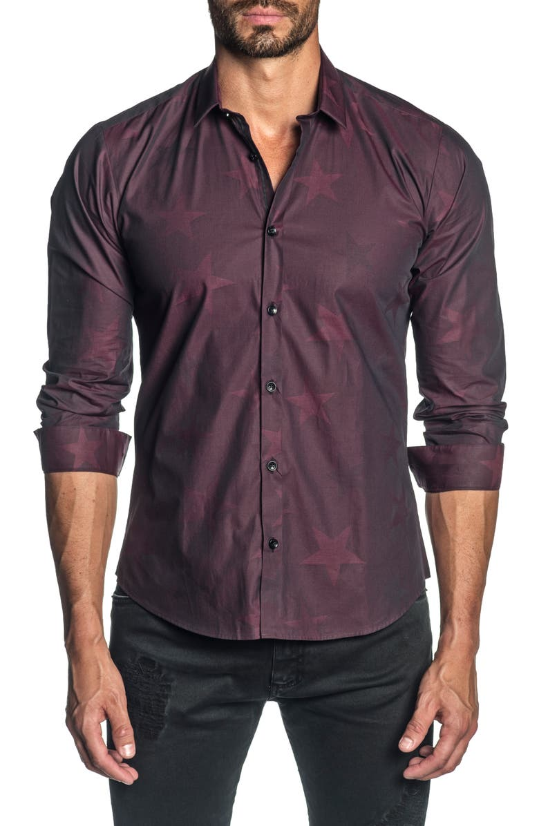 JARED LANG Slim Fit Button-Up Shirt, Main, color, 600