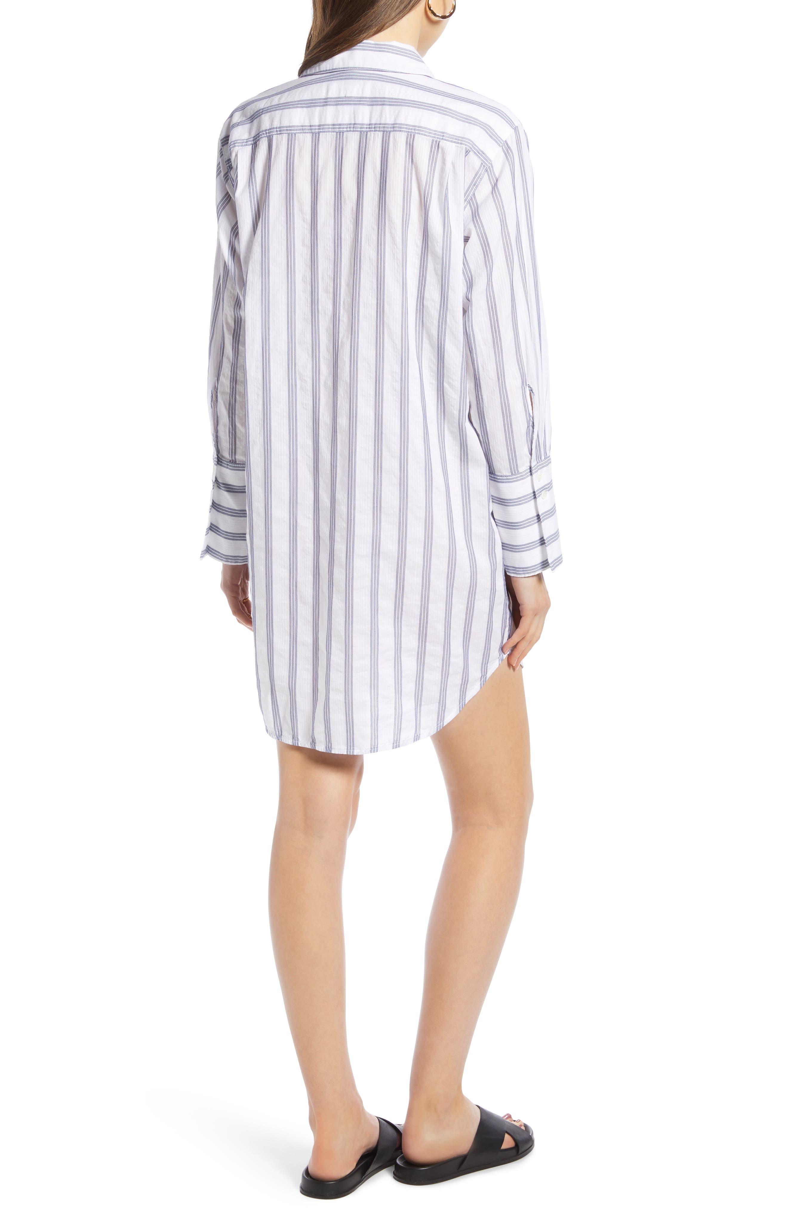 ,                             Stripe Shirtdress,                             Alternate thumbnail 2, color,                             BLUE- WHITE TAILOR STRIPE