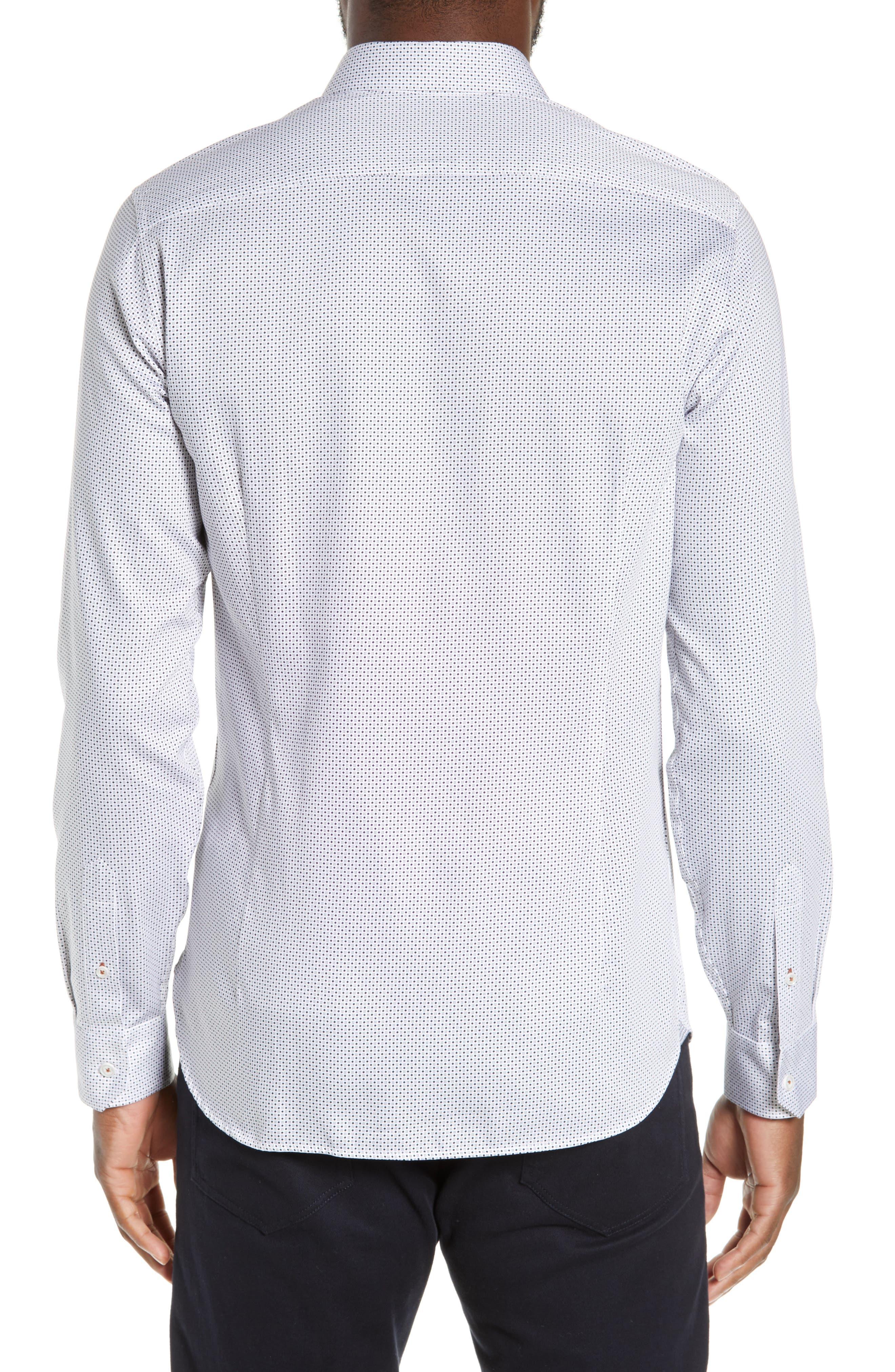 ,                             Subik Slim Fit Geo Print Sport Shirt,                             Alternate thumbnail 3, color,                             110