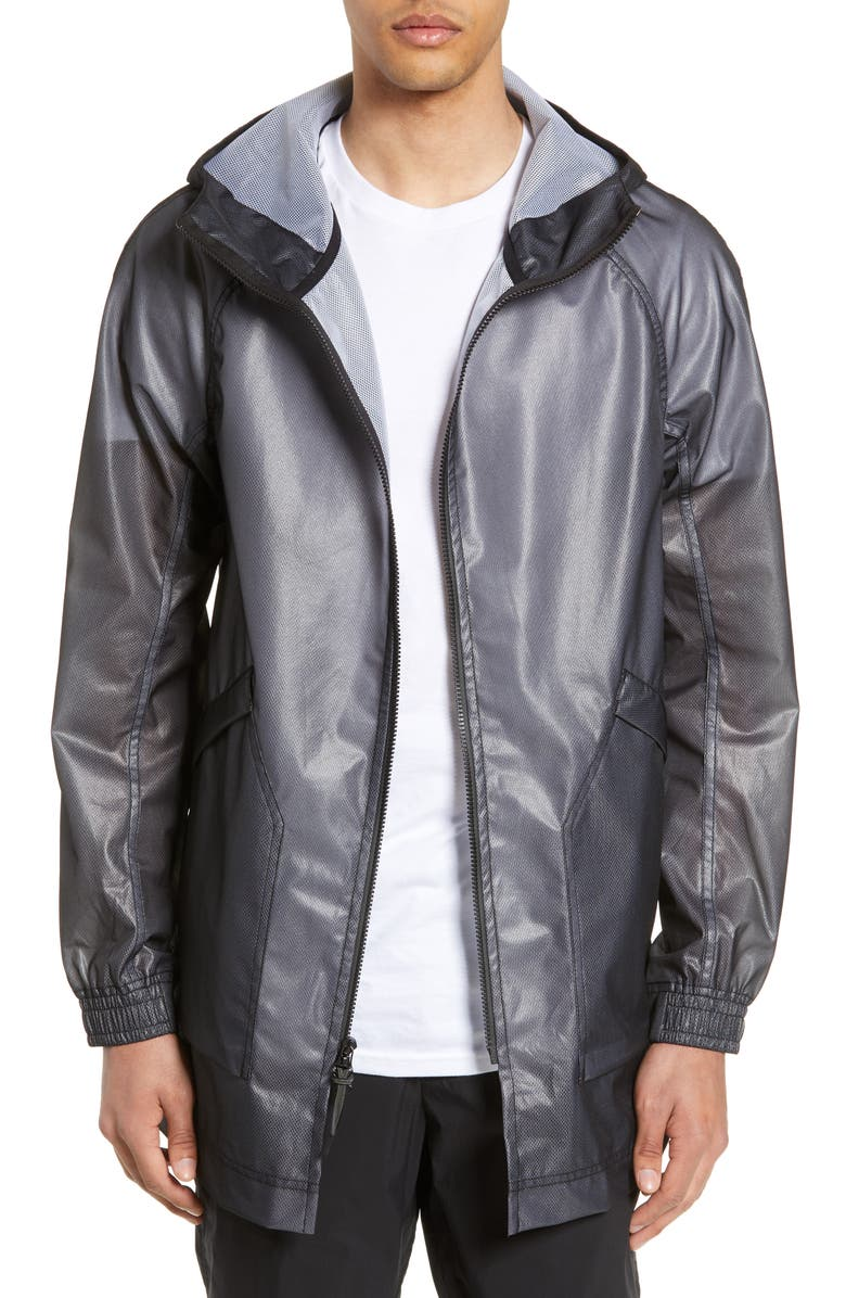 WINGS + HORNS Storm Rain Jacket, Main, color, BLACK