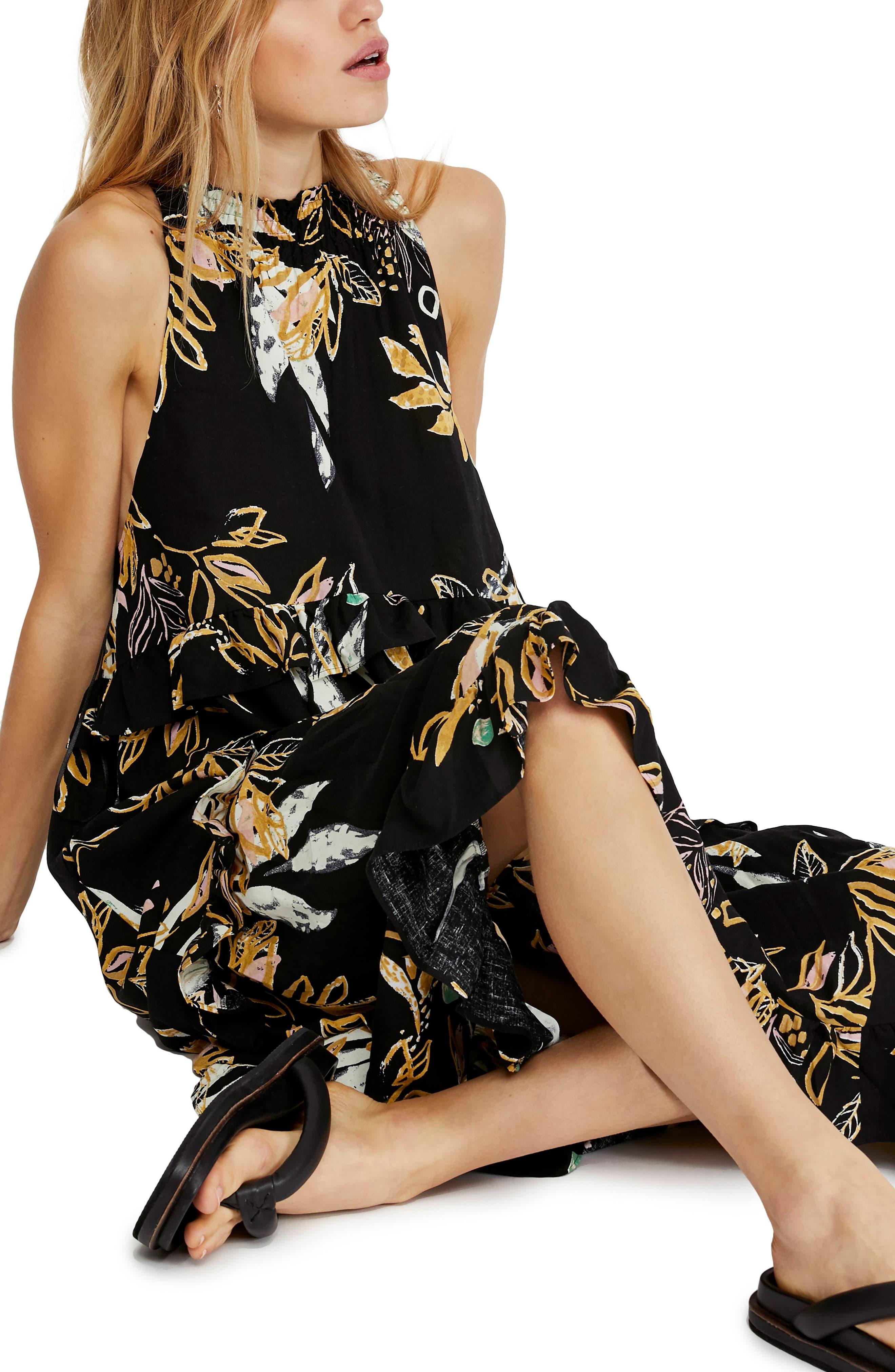 ,                             Anita High/Low Dress,                             Alternate thumbnail 6, color,                             BLACK