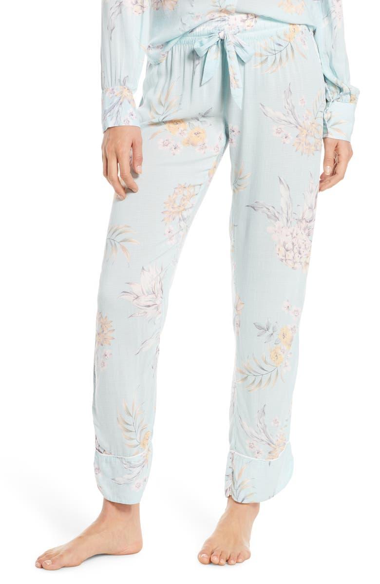 PJ SALVAGE Paradise Bound Dobby Weave Pajama Pants, Main, color, 300