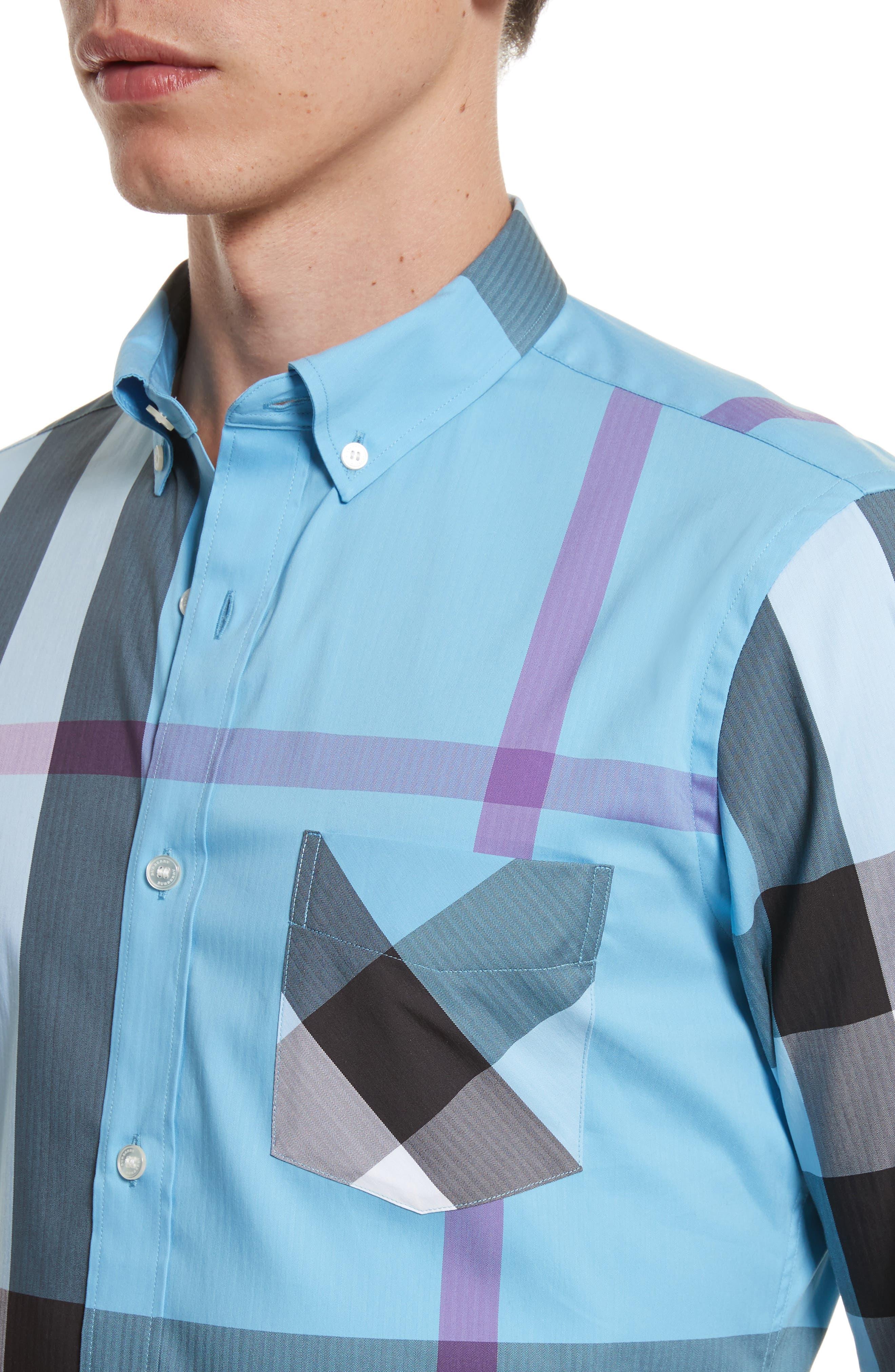 ,                             Thornaby Slim Fit Plaid Sport Shirt,                             Alternate thumbnail 30, color,                             439