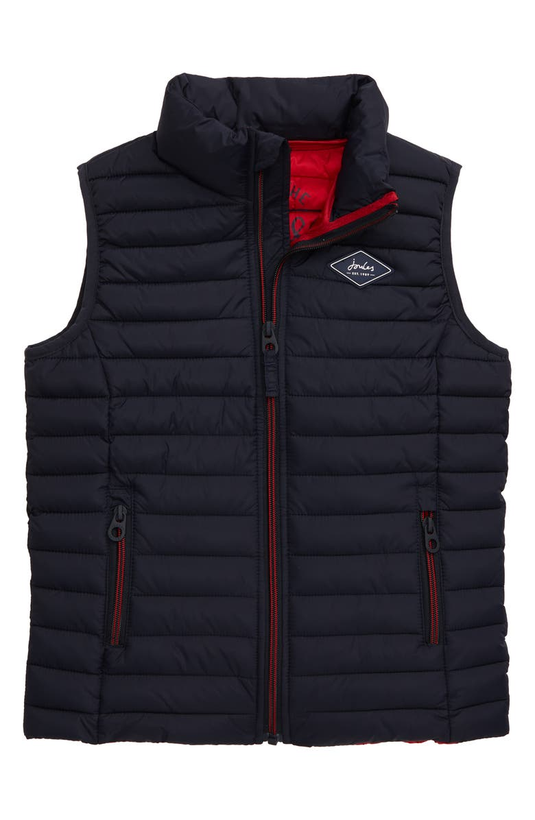 JOULES Crofton Packable Vest, Main, color, MARIN NAVY
