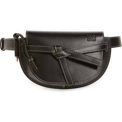 Loewe Mini Gate Calfskin Leather Belt Bag - Black