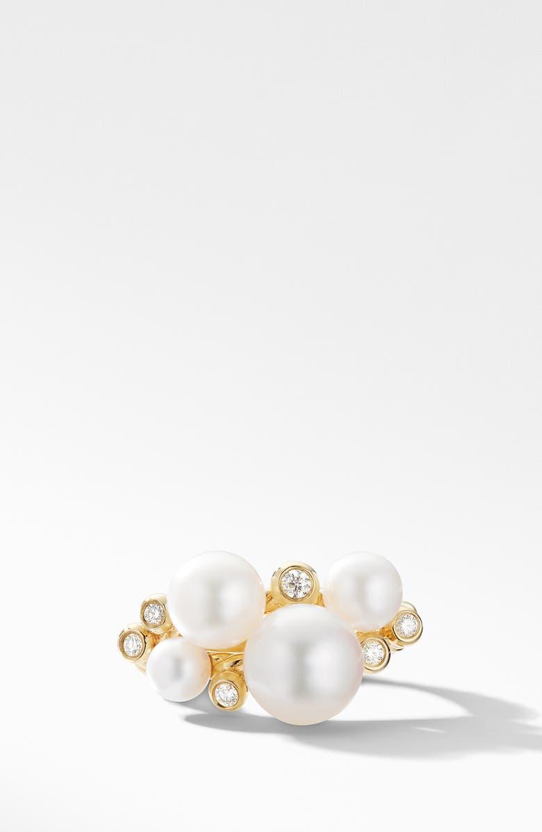 DAVID YURMAN 18K Gold Pearl Cluster Ring with Diamonds, Main, color, YELLOW GOLD/ DIAMOND/ PEARL