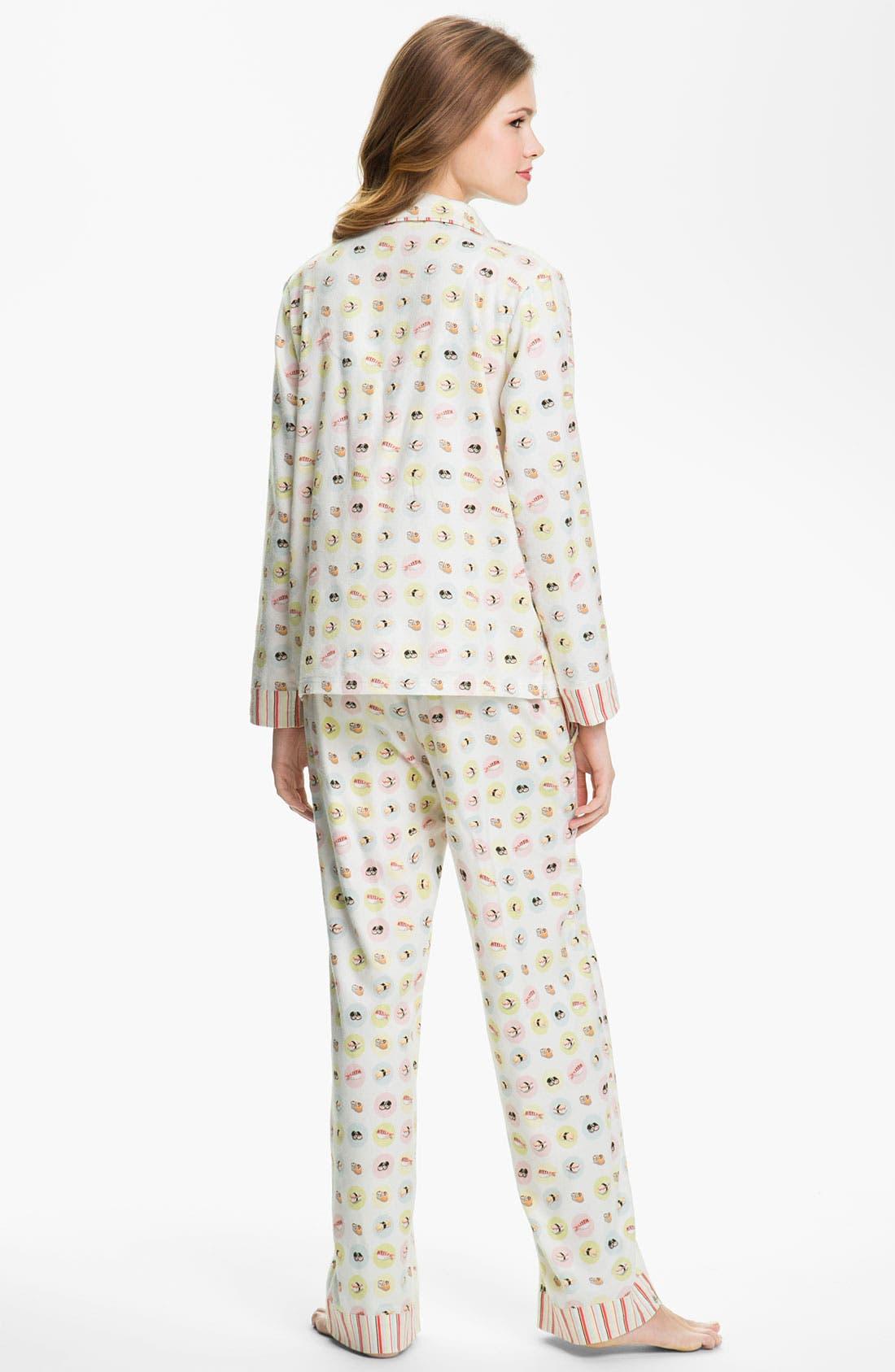 ,                             Flannel Pajamas,                             Alternate thumbnail 10, color,                             100