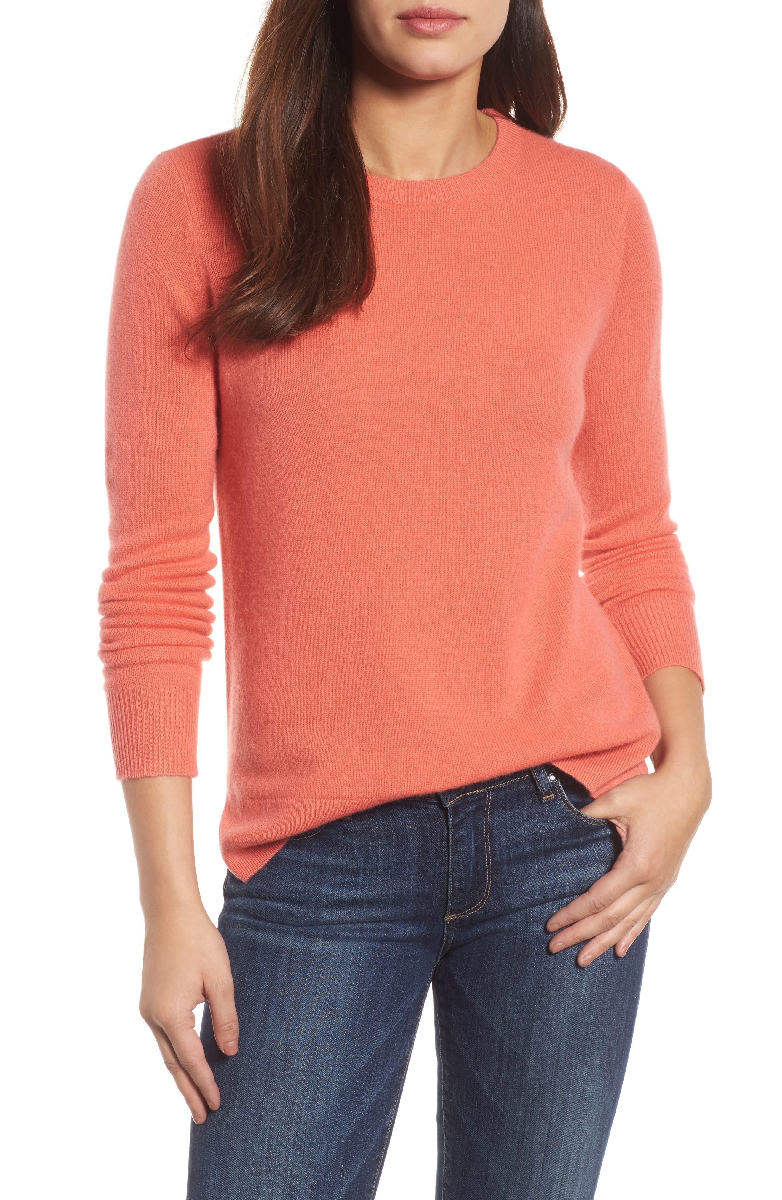 ,                             Crewneck Cashmere Sweater,                             Main thumbnail 231, color,                             950
