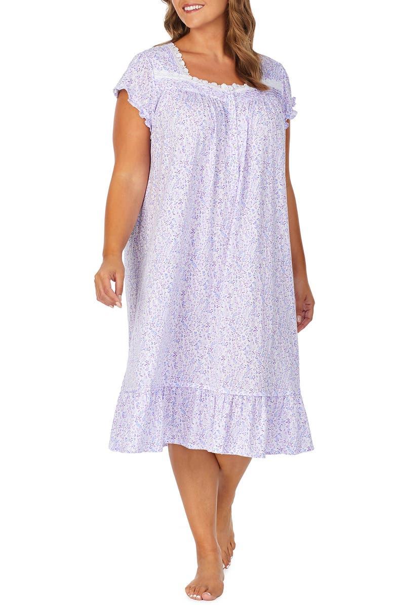 EILEEN WEST Waltz Jersey Nightgown, Main, color, 100
