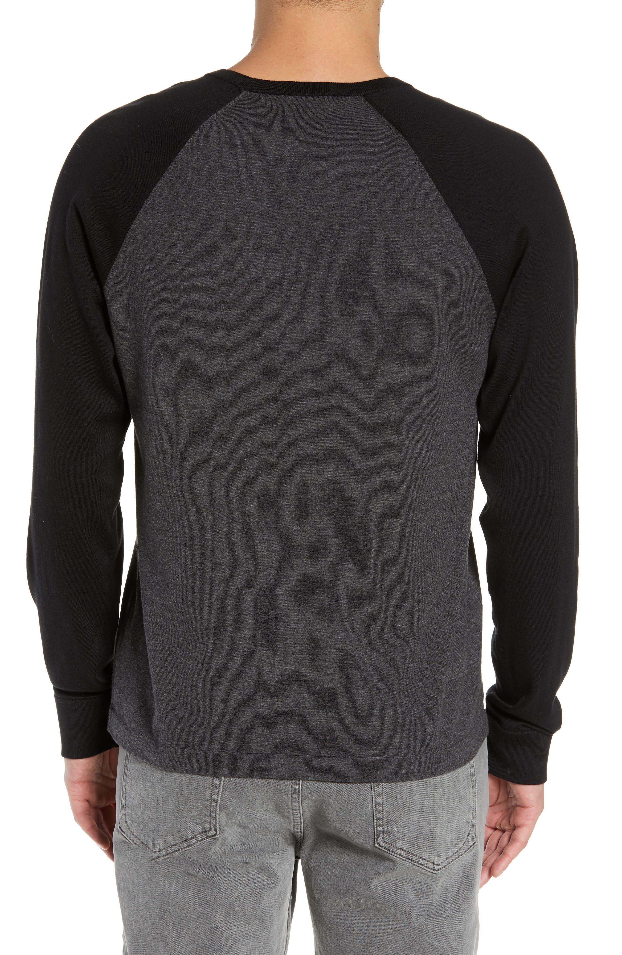 ,                             Jersey Crewneck Sweater,                             Alternate thumbnail 2, color,                             HEATHER/ CHARCOAL BLACK