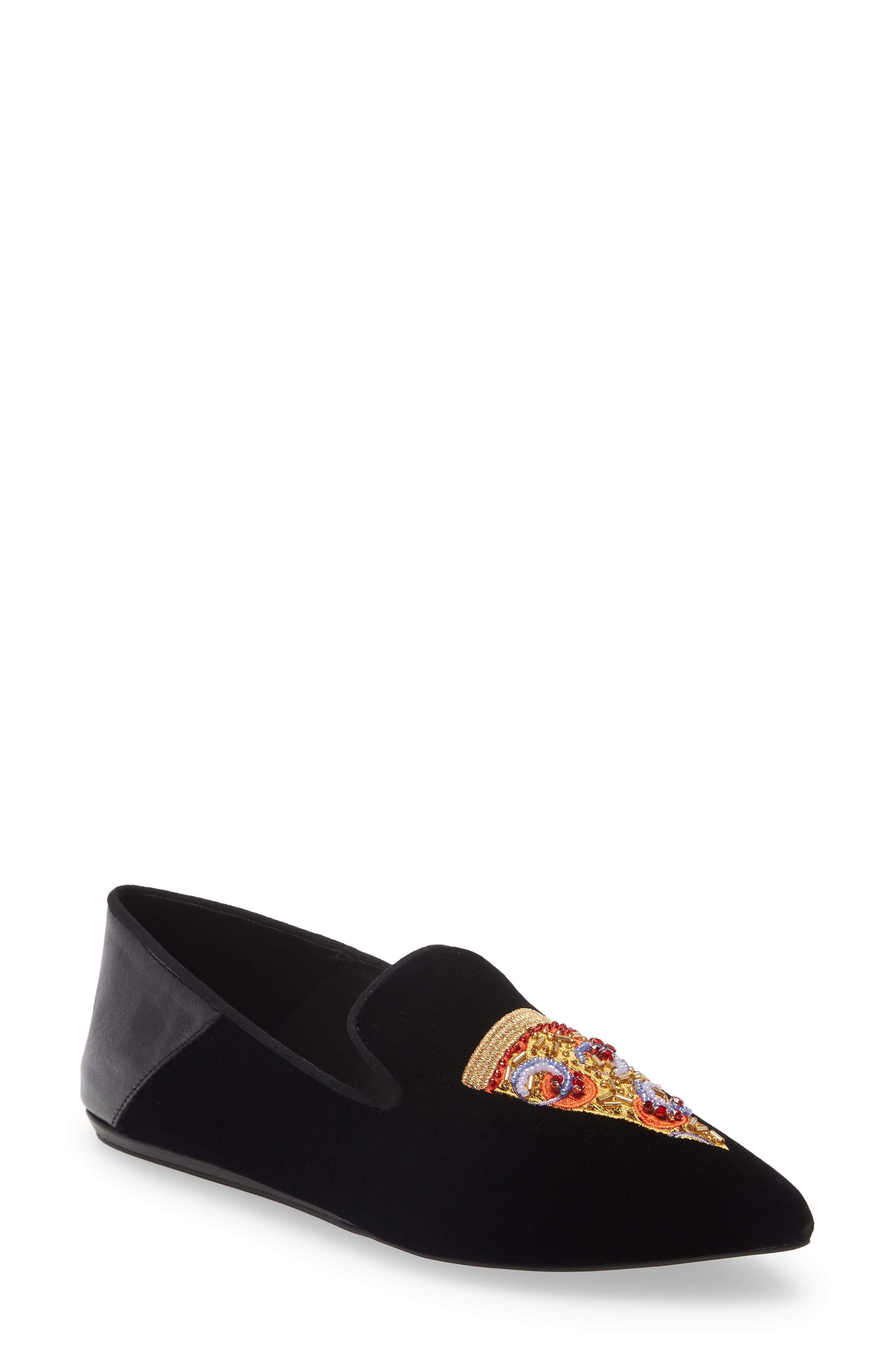 Junkfort Embroidered Pizza Flat