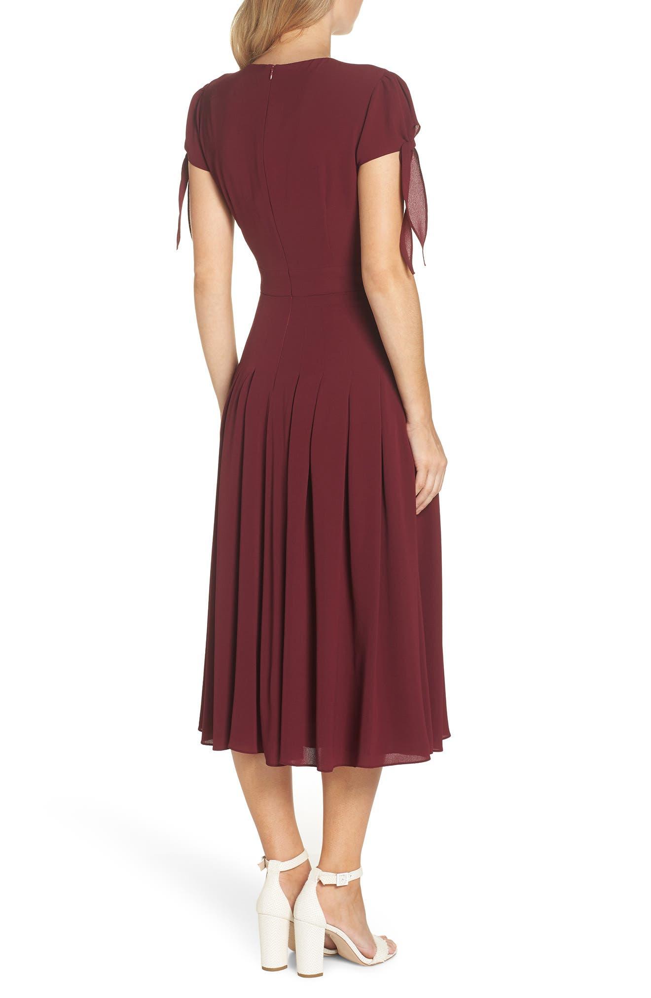 ,                             Bette Pleated Midi Dress,                             Alternate thumbnail 10, color,                             655