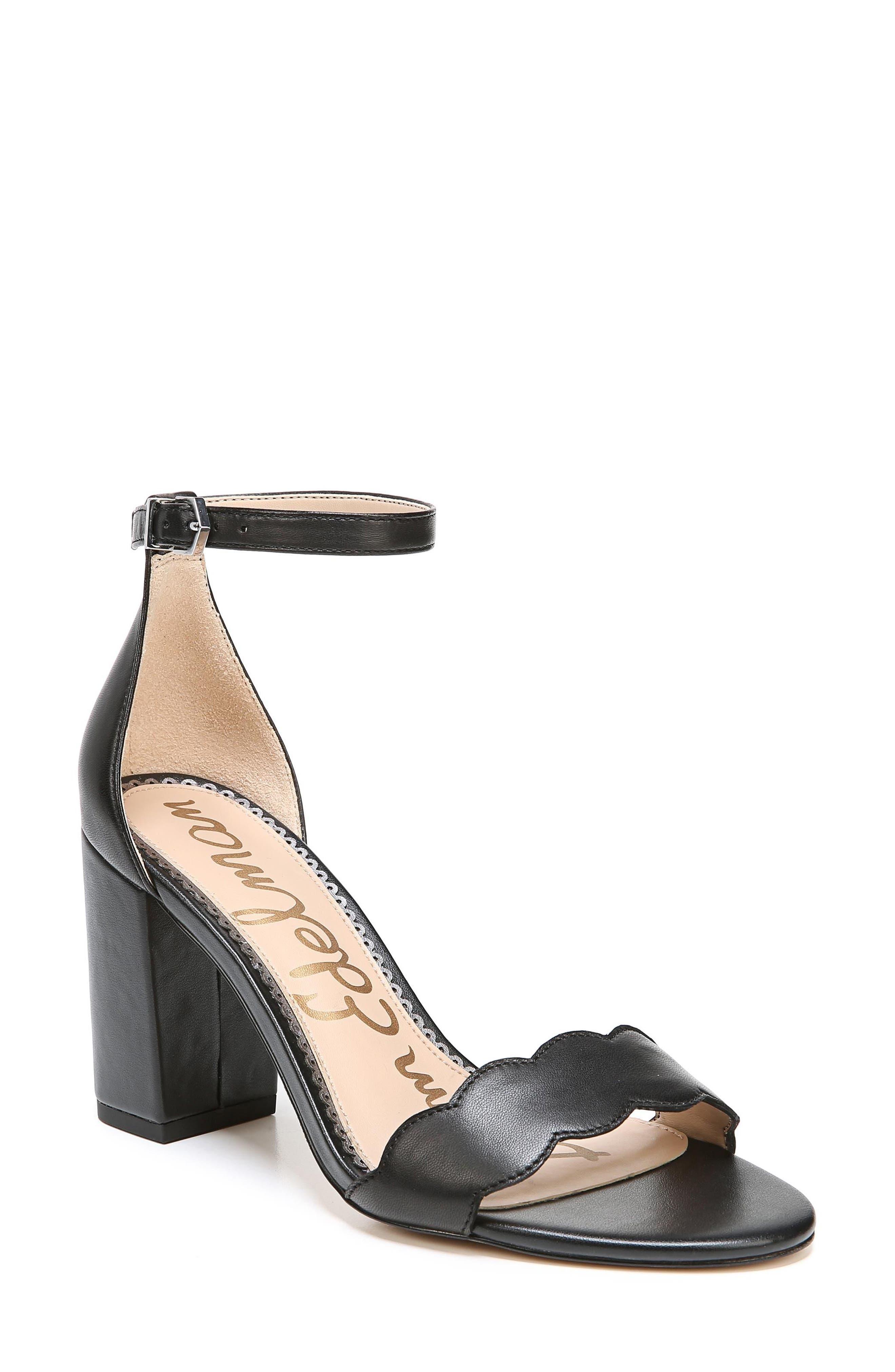 Odila Sandal, Main, color, BLACK LEATHER