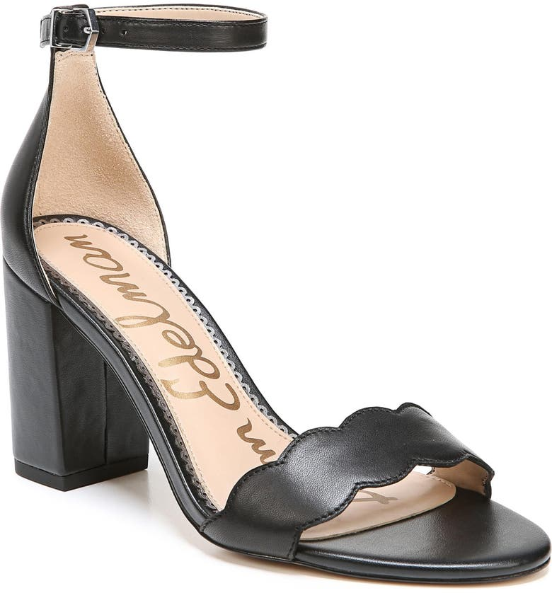 SAM EDELMAN Odila Sandal, Main, color, BLACK LEATHER