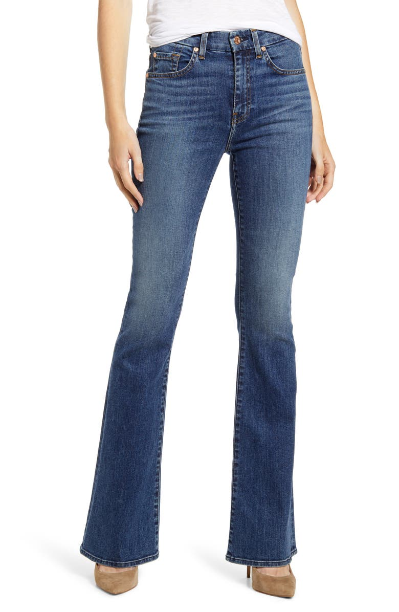 7 FOR ALL MANKIND<SUP>®</SUP> Ali High Waist Flare Leg Jeans, Main, color, BLUE MONDAY