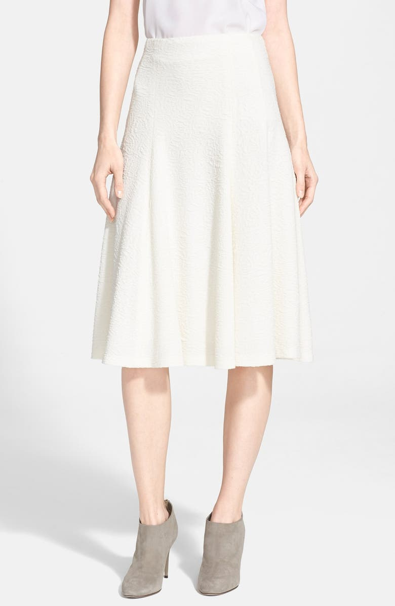 ALICE + OLIVIA 'Kimi' Midi Skirt, Main, color, CREAM