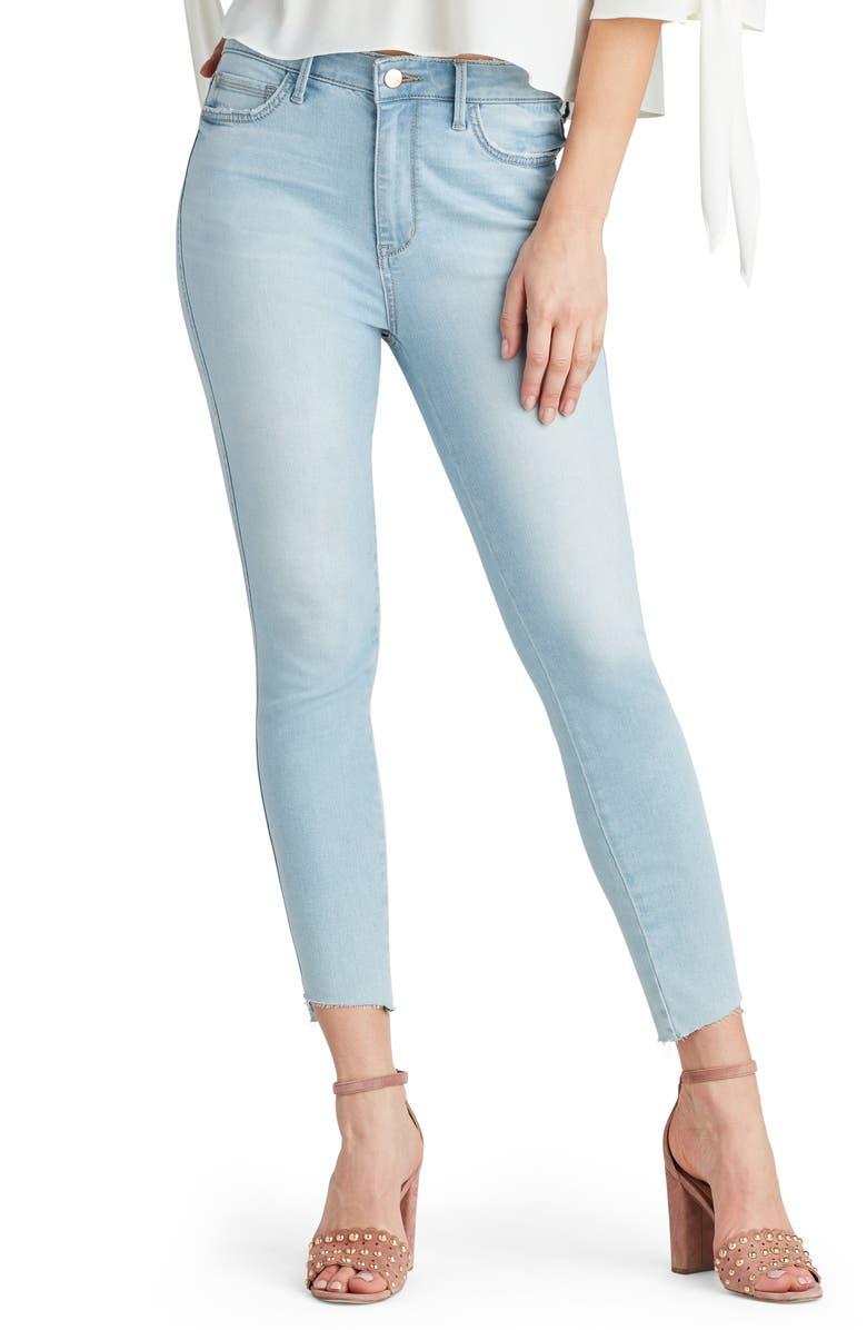 SAM EDELMAN Stiletto Step Hem Ankle Skinny Jeans, Main, color, 450