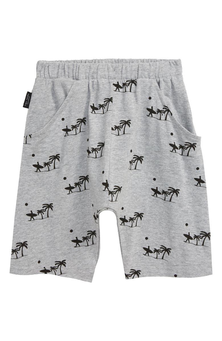 TINY TRIBE Palm Shorts, Main, color, GREY MARL