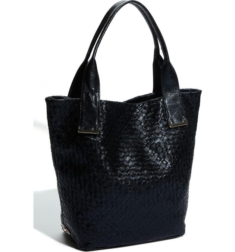 ELLIOTT LUCCA 'Intreccio' Leather Tote, Large, Main, color, 001