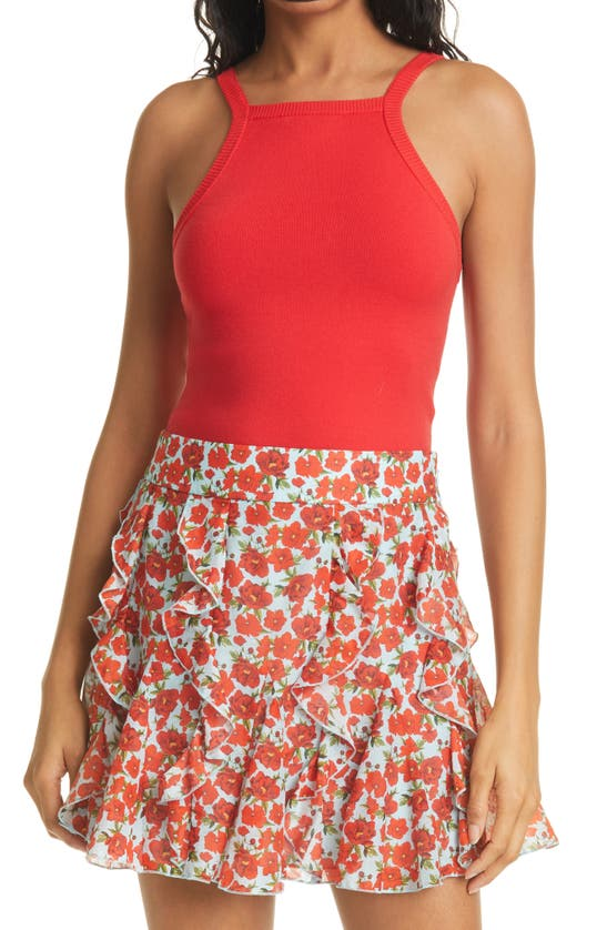 Alice And Olivia Knits CABOT HALTER NECK KNIT TANK TOP