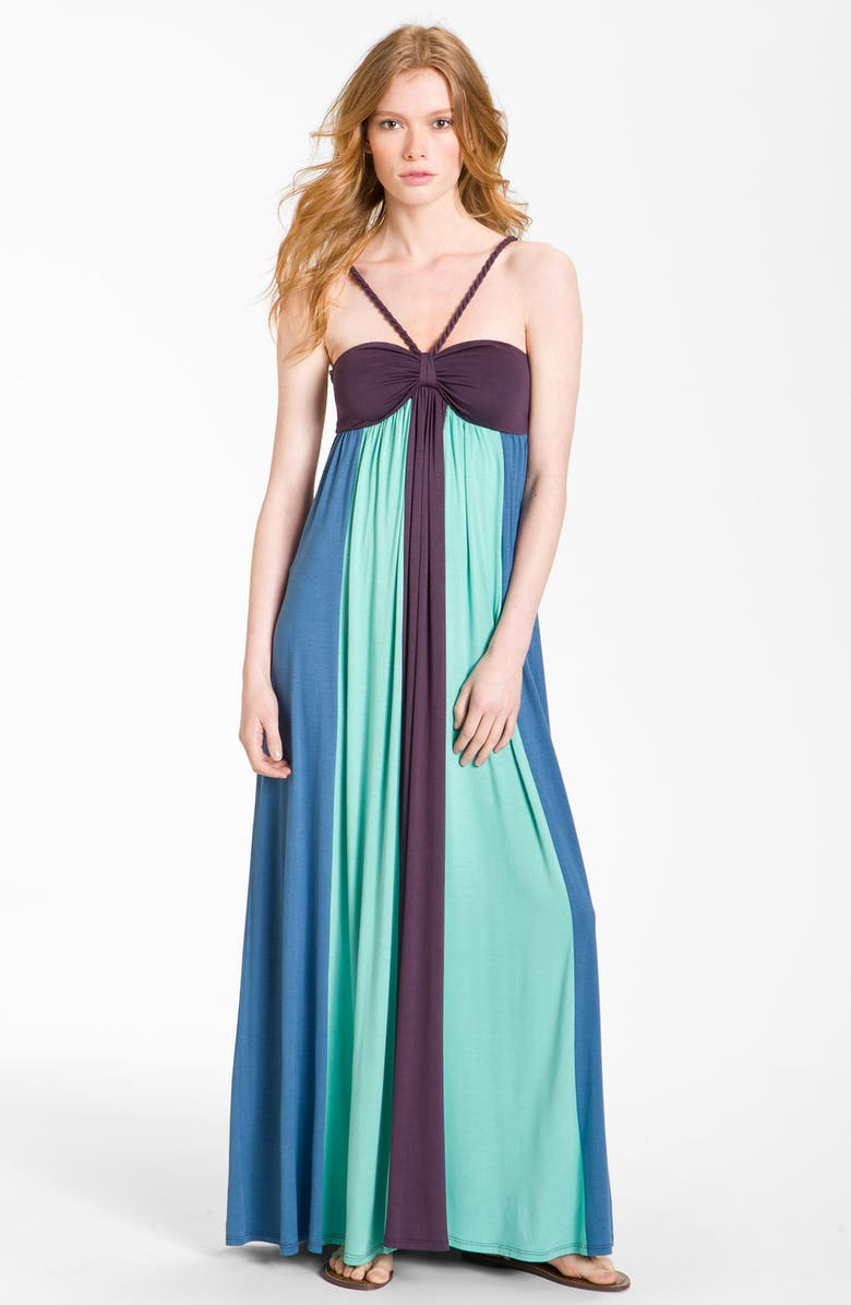 ELLA MOSS 'Skylar' Colorblock Bandeau Maxi Dress, Main, color, 440