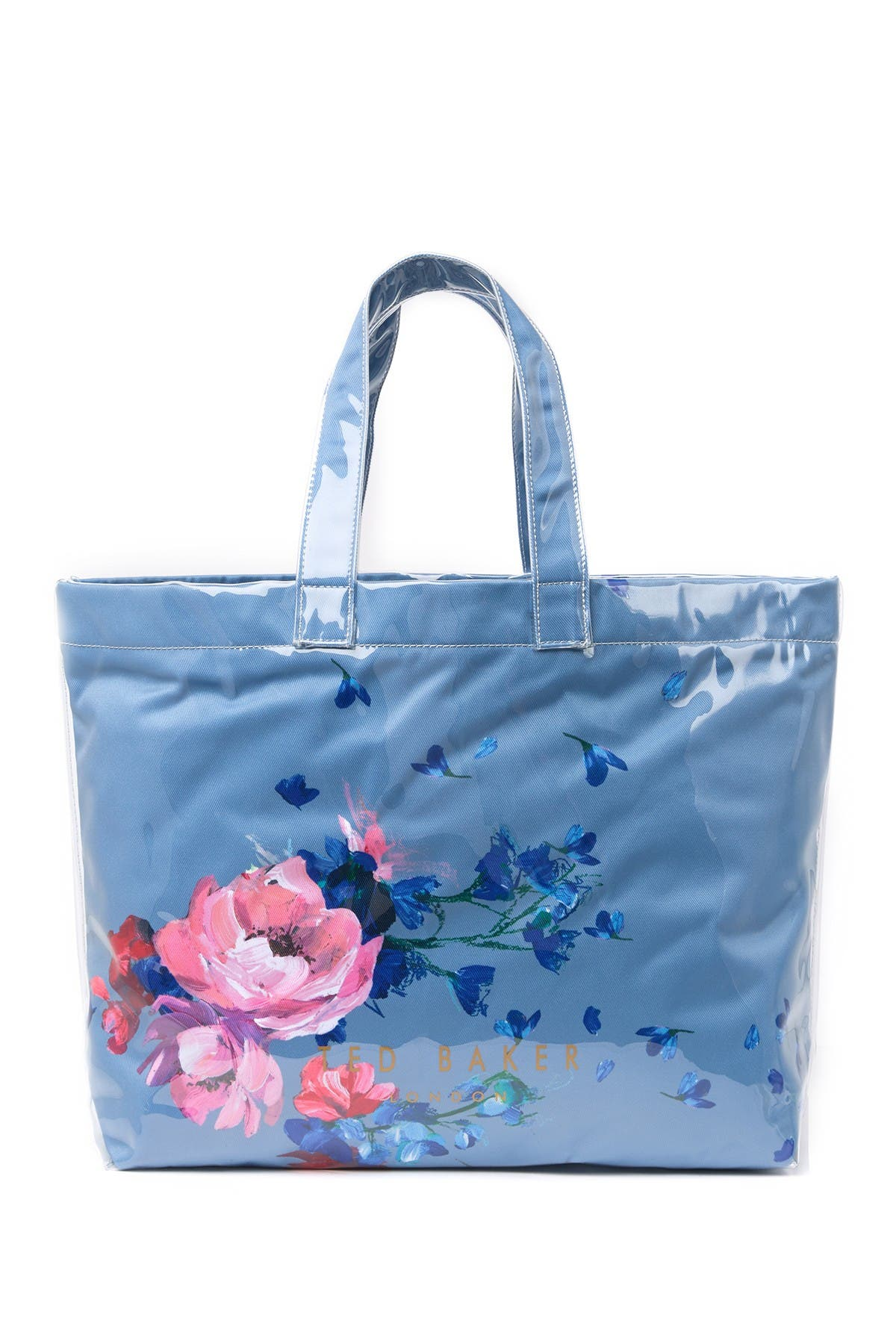 Image of Ted Baker London Raspberry Ripple Canvas Shopper Bag