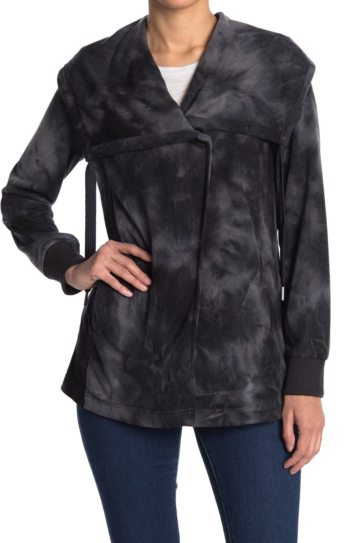 Image of Bagatelle French Terry Draped Tie Dye Jacket