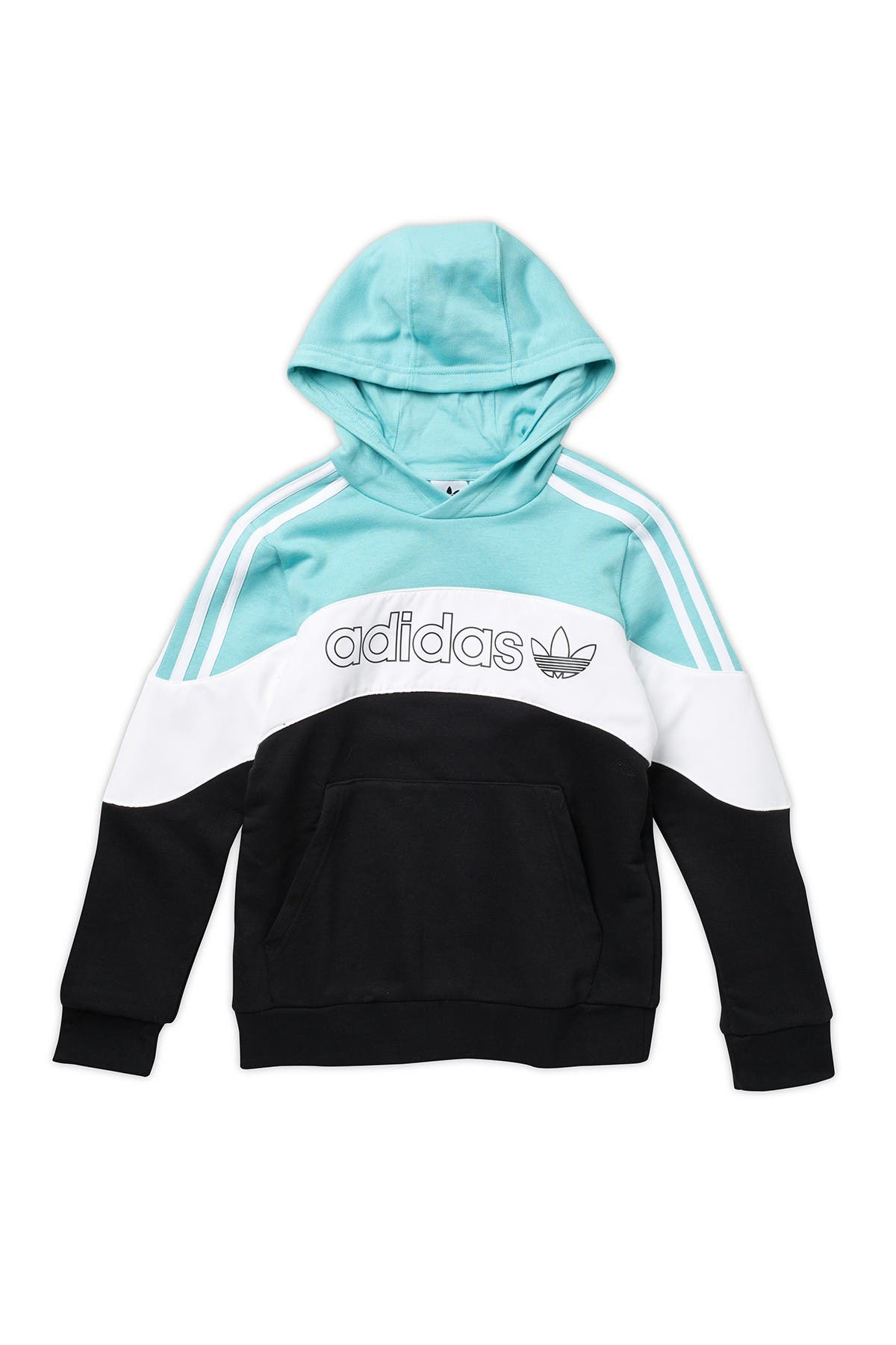 Image of ADIDAS ORIGINALS Colorblock Hooded Pullover