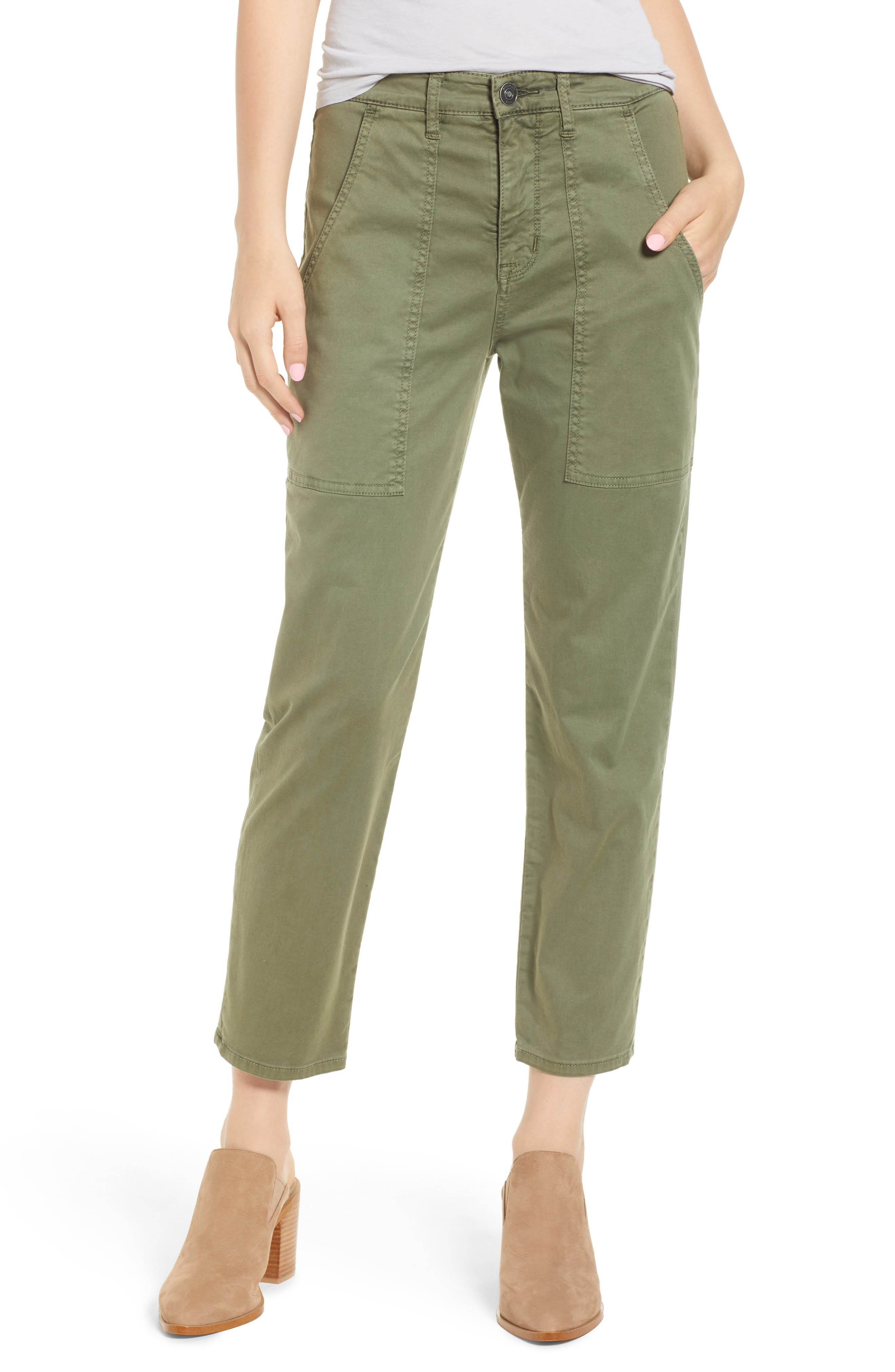 153d73acbdbd5 Hudson Jeans The Leverage Ankle Cargo Pants, Green