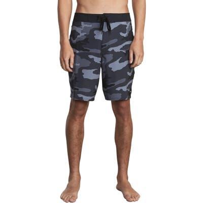 Rvca Va Print Board Shorts, Black