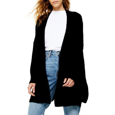 Topshop Long Cardigan, Black