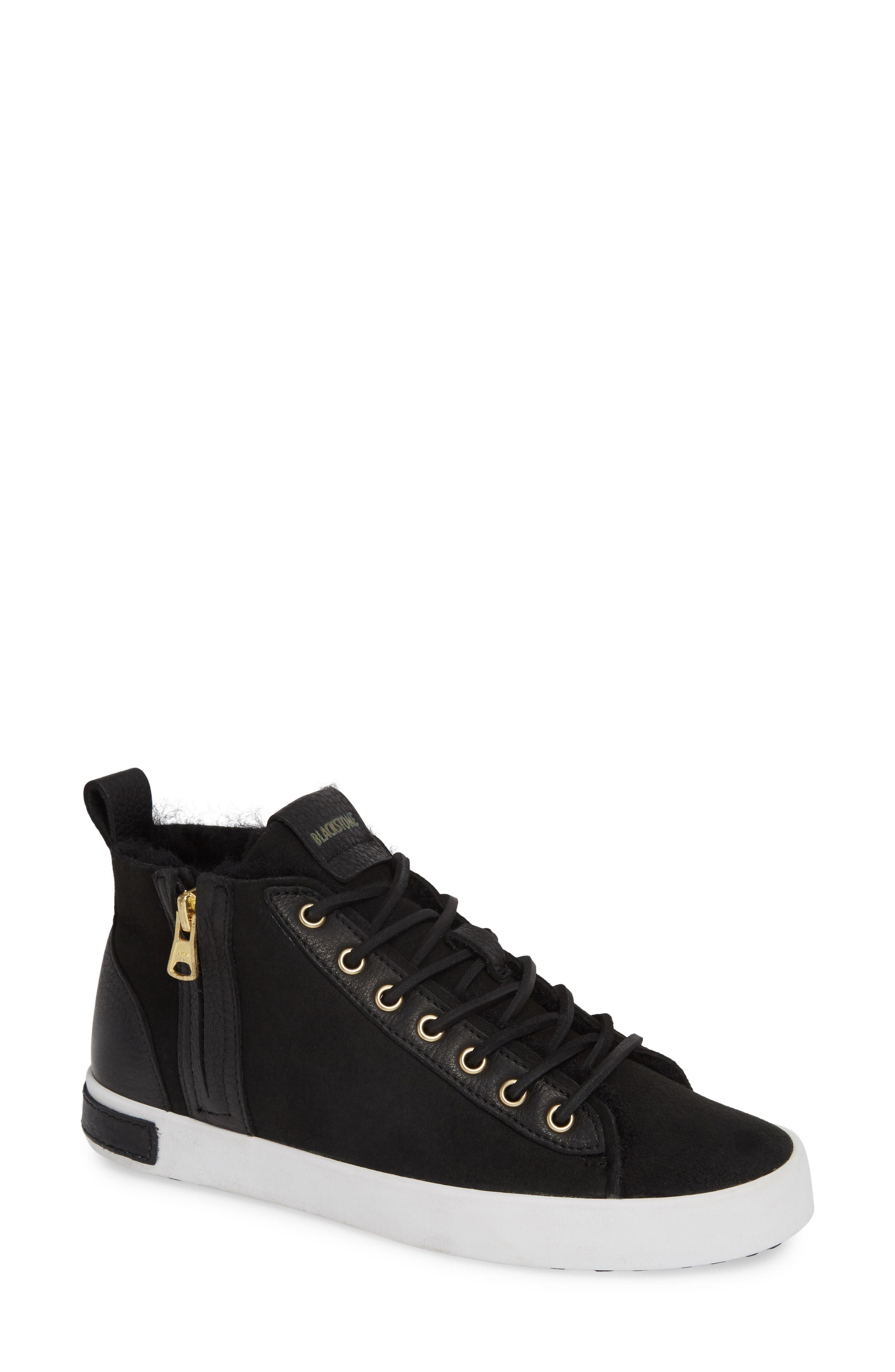 Blackstone Ql47 Genuine Shearling Lined Sneaker, Black