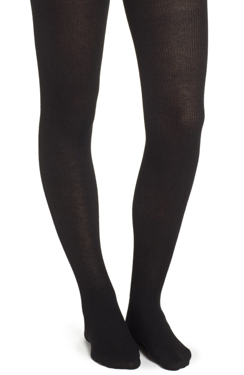NATORI Regent Sweater Tights, Main, color, BLACK