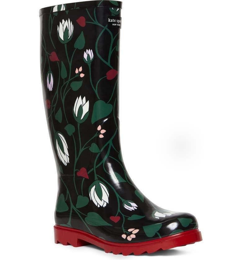 KATE SPADE NEW YORK renata rain boot, Main, color, FLORAL