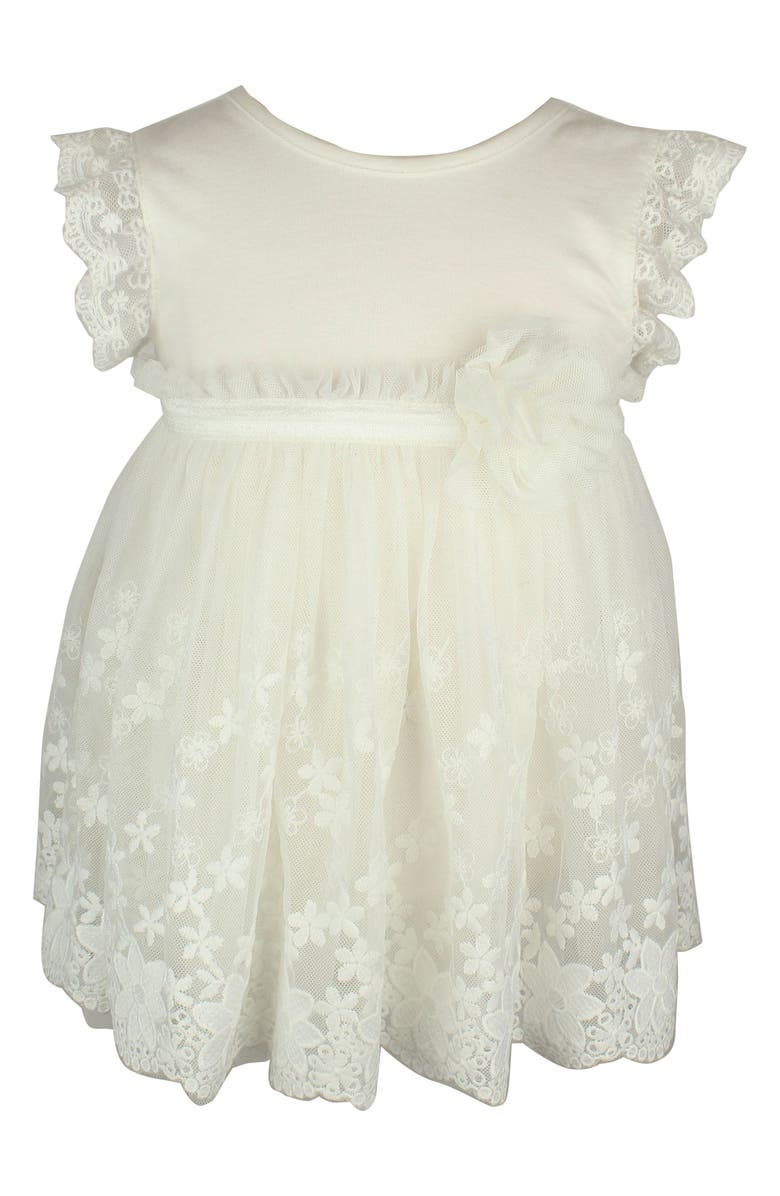 POPATU Lace Dress, Main, color, WHITE