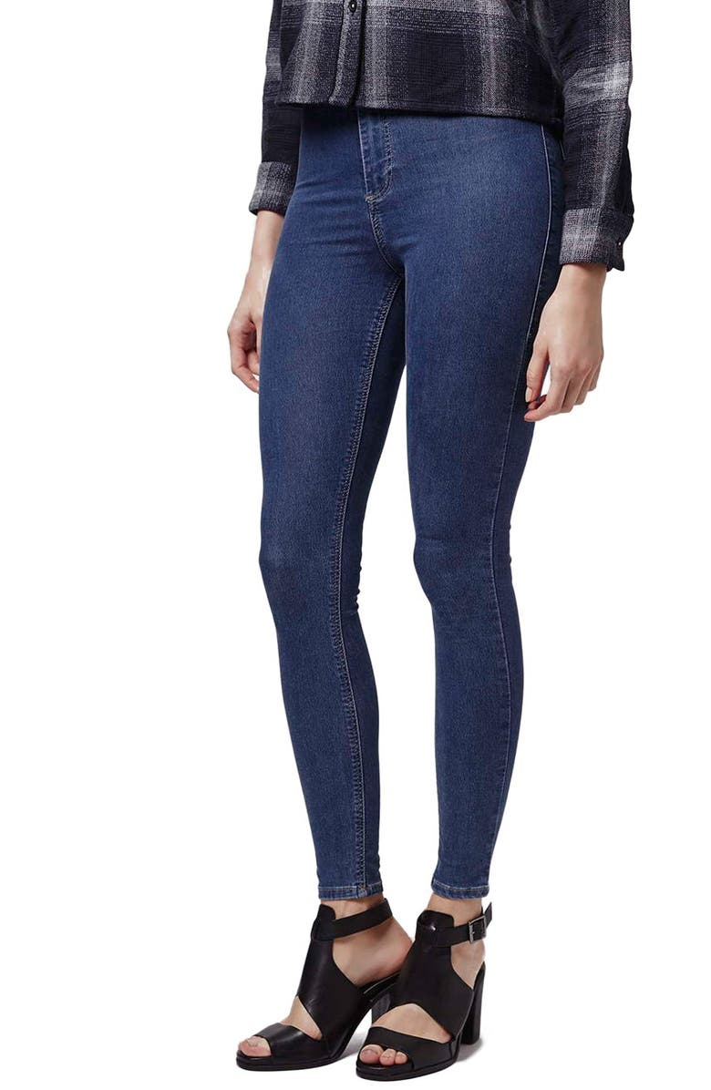 TOPSHOP Moto 'Joni' High Rise Ankle Skinny Jeans, Main, color, 430