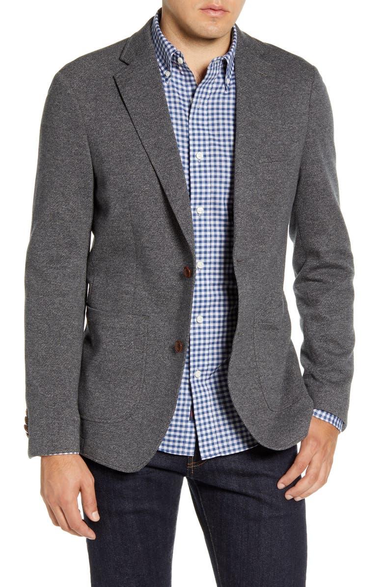 FAHERTY Summit Ideal Regular Fit Blazer, Main, color, GREY
