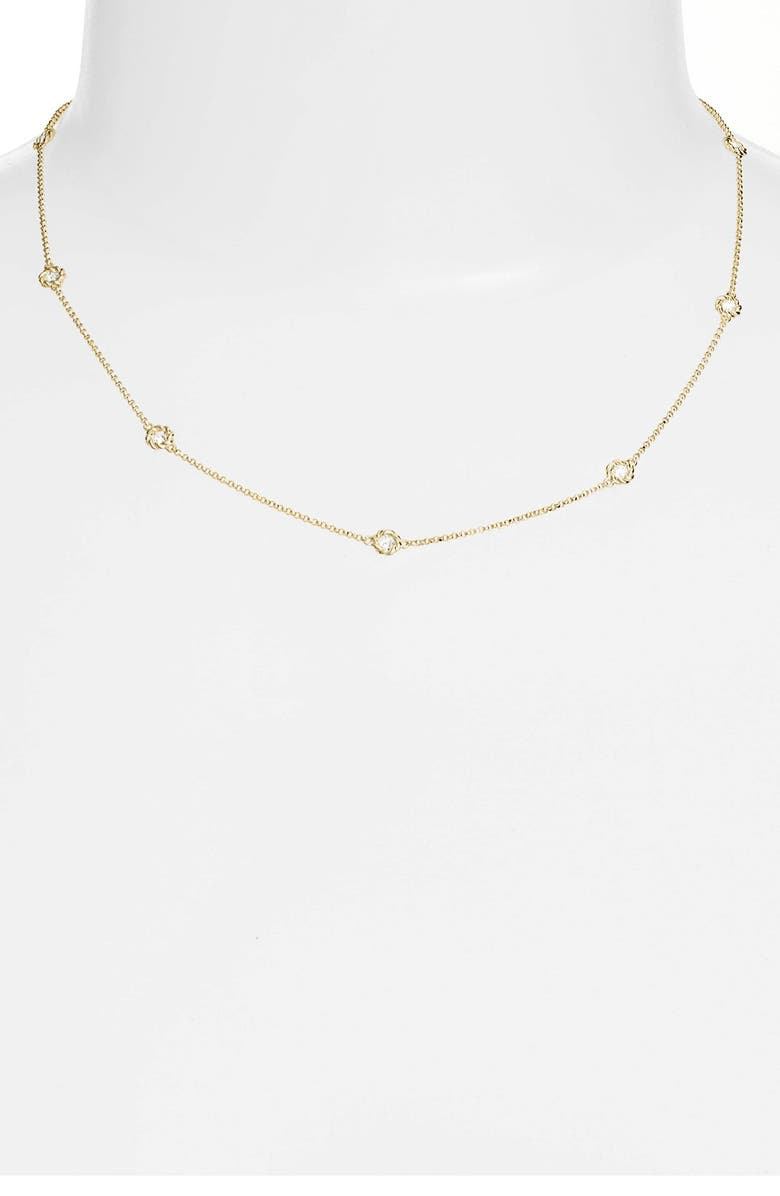 ROBERTO COIN Diamond Station Necklace, Main, color, YELLOW GOLD
