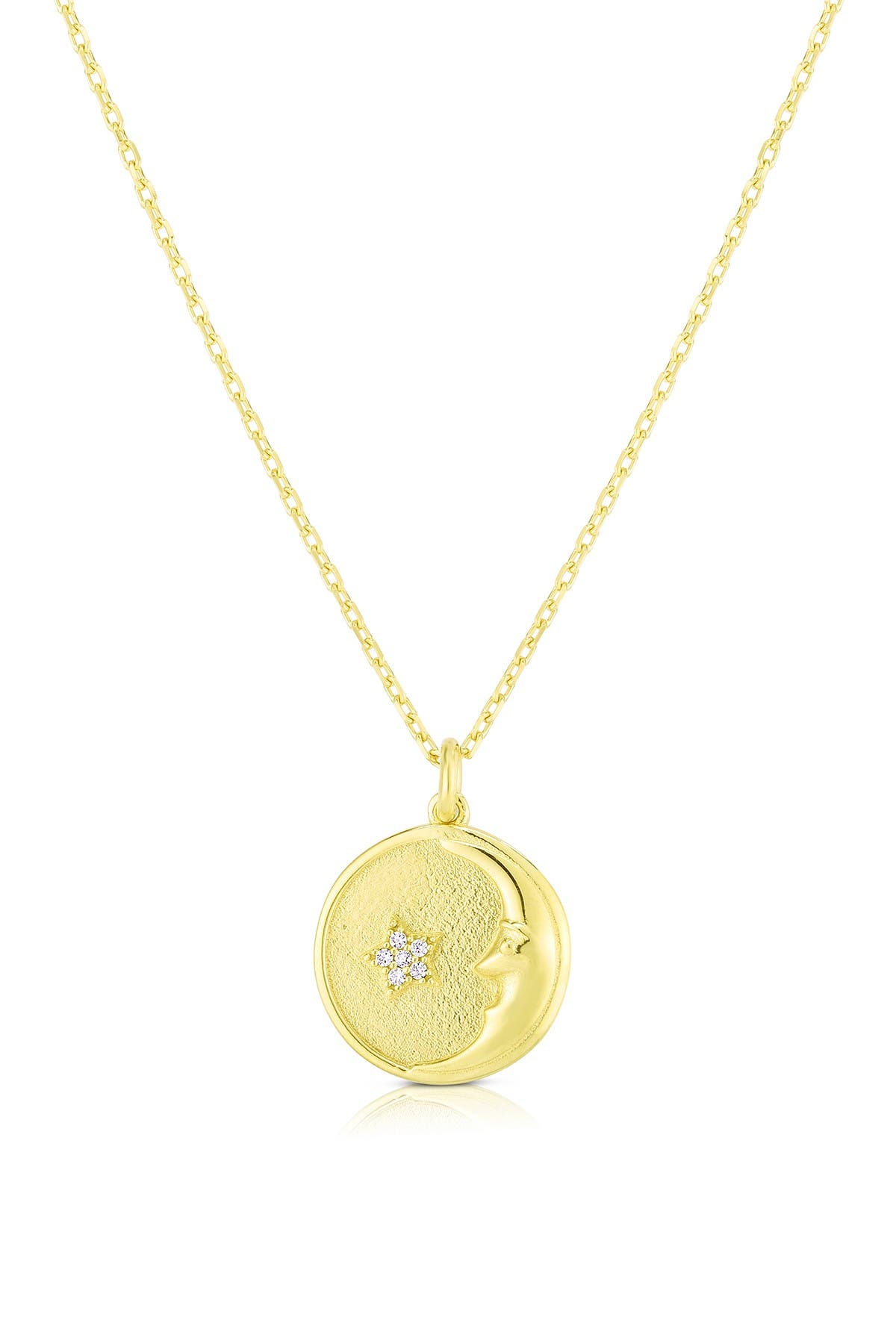 Image of Sphera Milano 14K Gold Plated Sterling Silver Moon Necklace