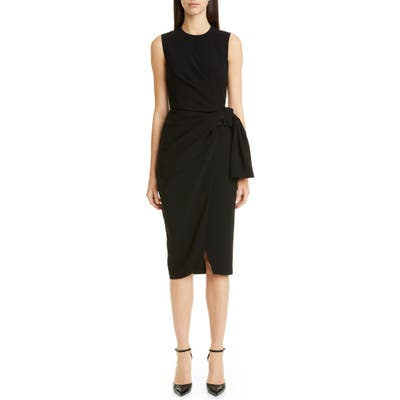 Altuzarra Sleeveless Drape Knot Pencil Dress, 8 FR - Black
