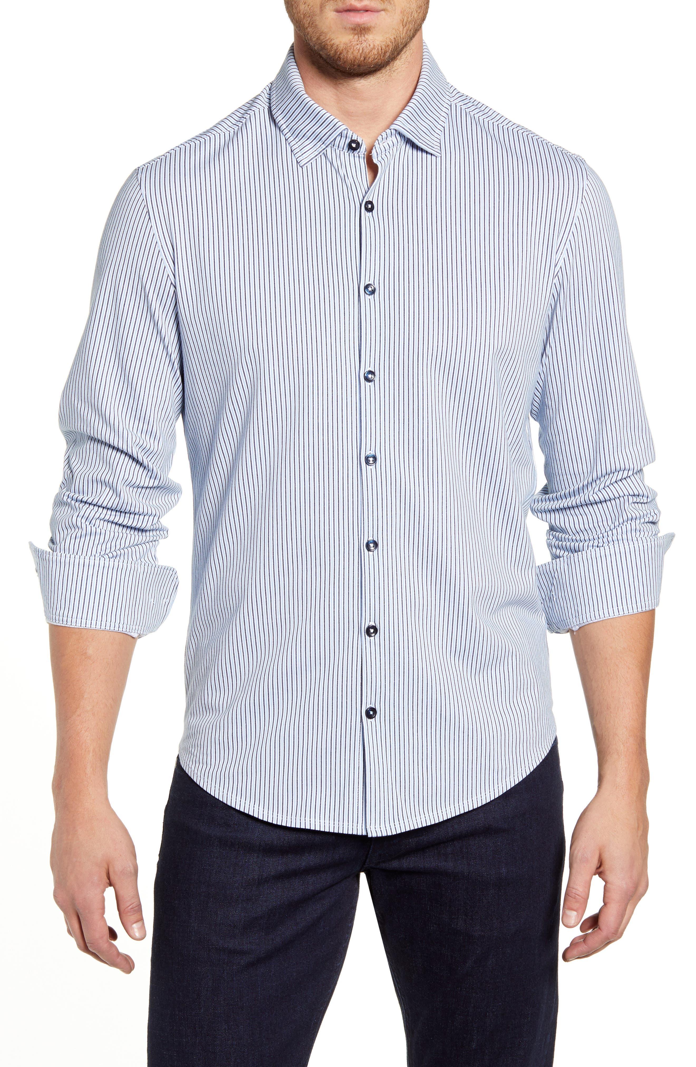 Image of Stone Rose Striped Regular Fit Shirt