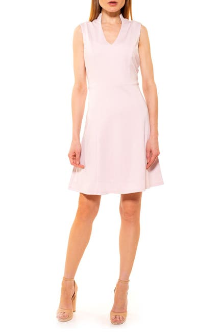Image of Alexia Admor Adelyn V-Neck Fit & Flare Dress