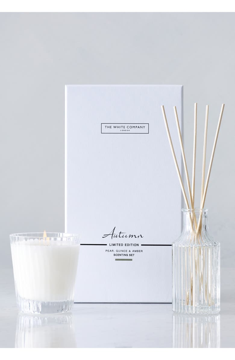 THE WHITE COMPANY Autumn Candle & Reed Diffuser Set, Main, color, 100