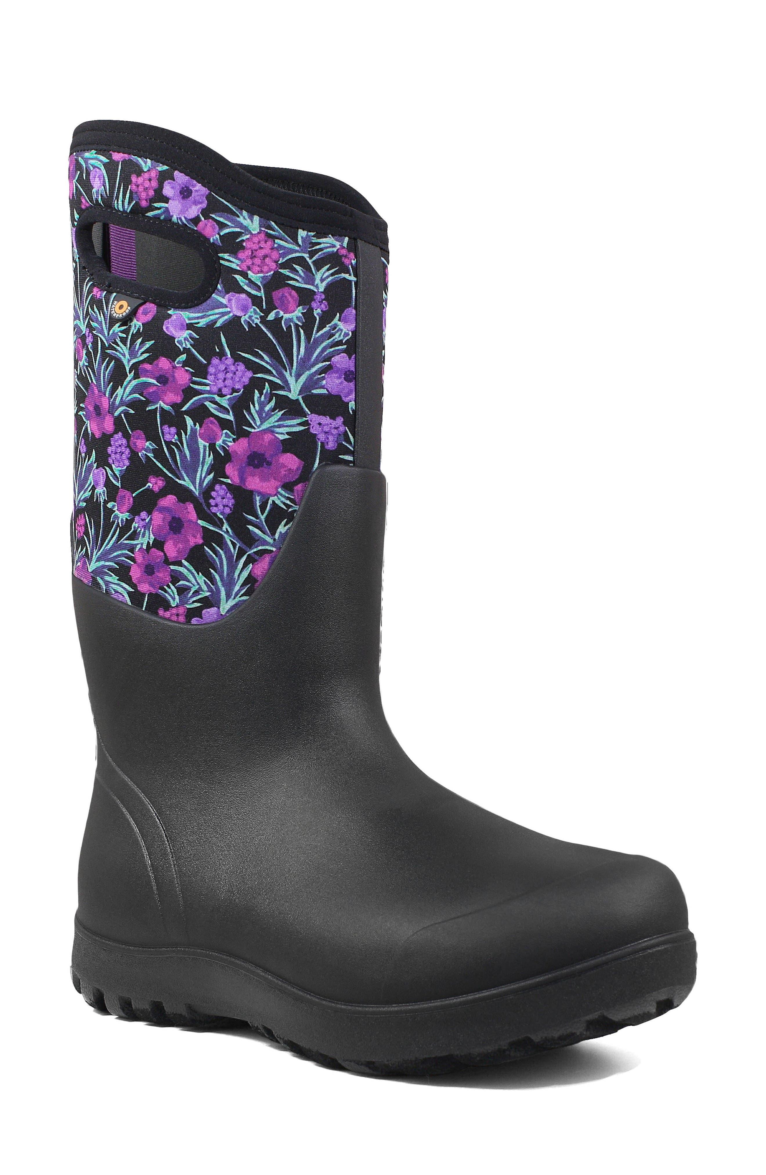 Neo Classic Tall Vine Floral Waterproof Rain Boot