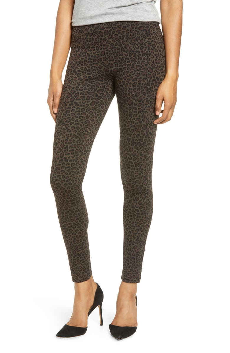 BLANKNYC Leopard Print Pull-On Skinny Pants, Main, color, LEOPARD