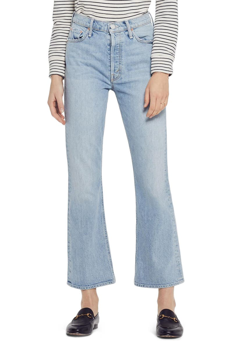 MOTHER The Tripper High Waist Crop Bootcut Jeans, Main, color, THANKS AGAIN