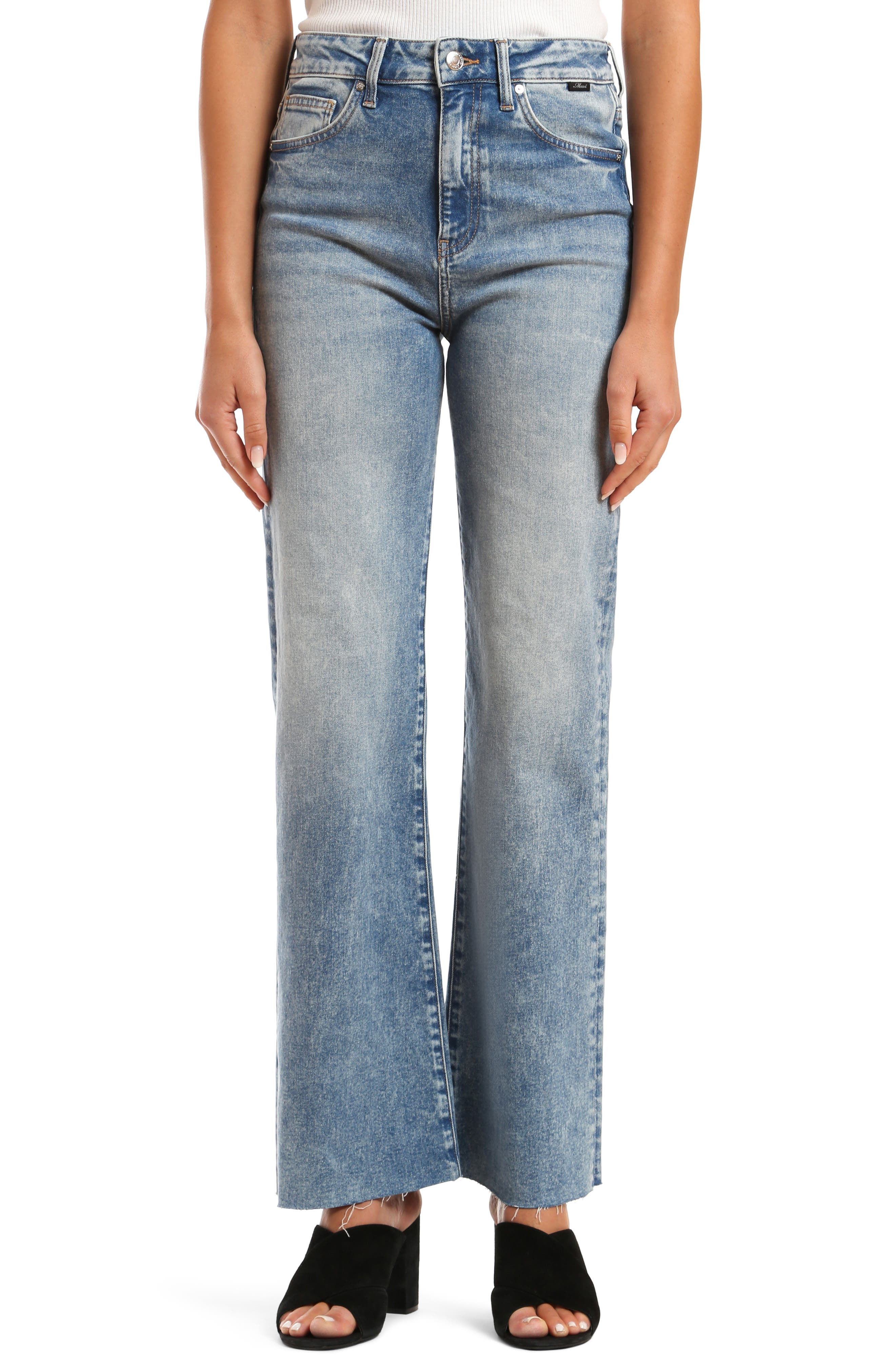 With a fade that it looks like it took you years to acquire, these jeans are further authenticated with raw-cut hems and a retro-flare leg style. Style Name: Mavi Jeans Victoria High Waist Raw Hem Flare Jeans (Mid 90S). Style Number: 6008800. Available in stores.