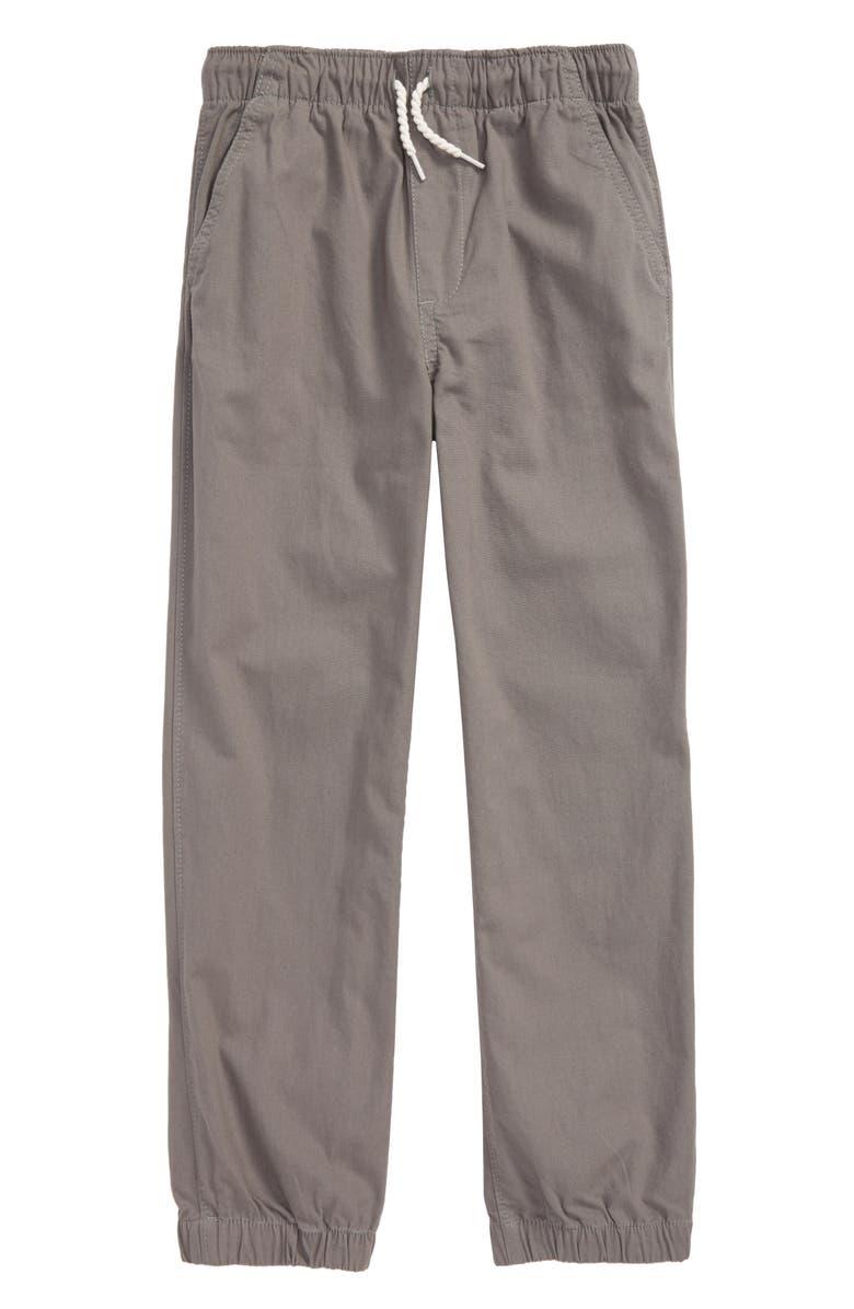 HATLEY Moon Grey Canvas Jogger Pants, Main, color, GREY
