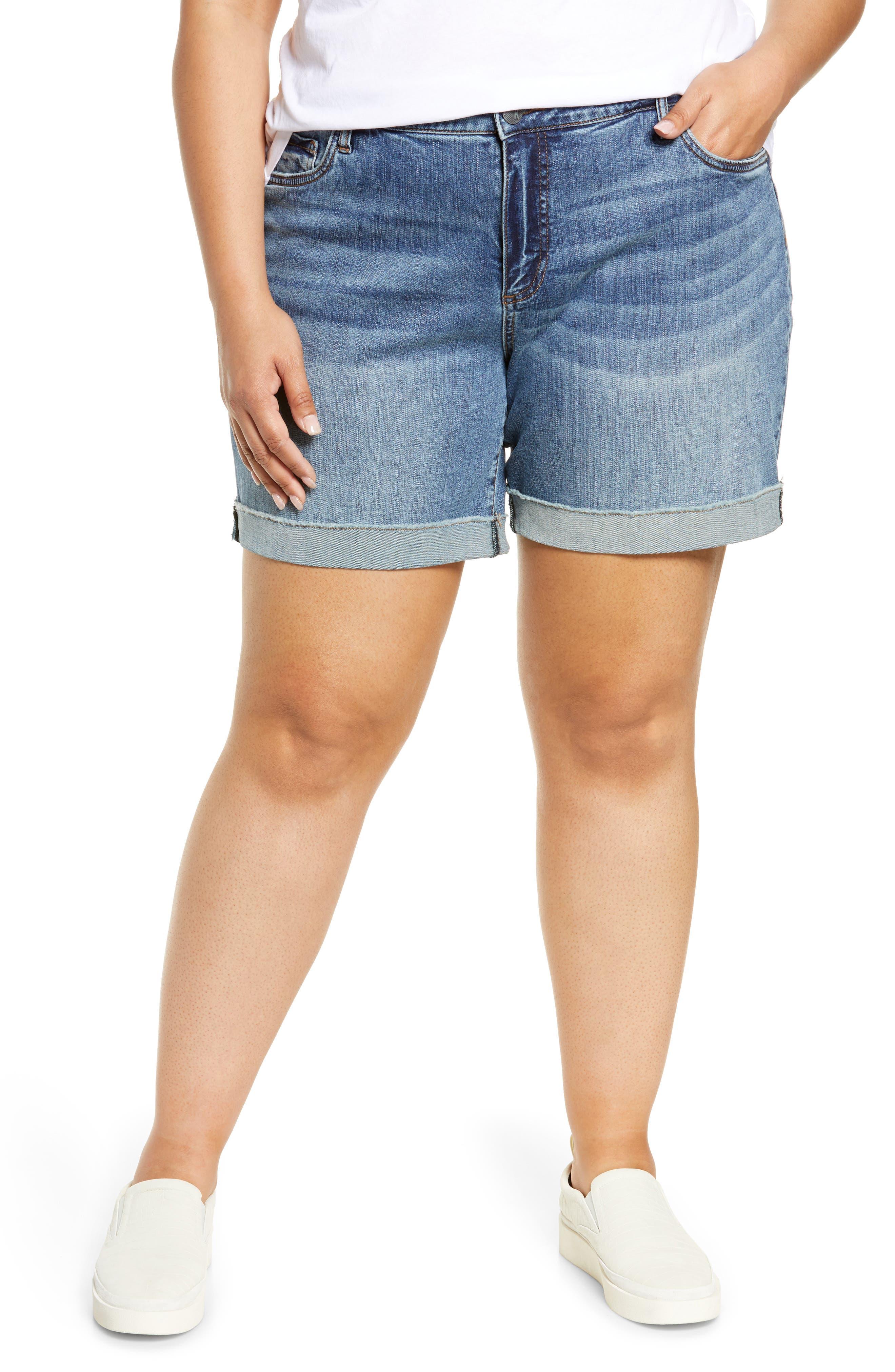 Catherine High Waist Cutoff Denim Boyfriend Shorts